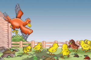 حكايات اطفال مسلية قبل النوم قصة الدجاجة الشجاعة