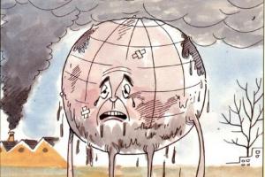 تلوث البيئة موضوع للأطفال بعنوان أرضنا المسكينة بقلم : العربي بنجلون