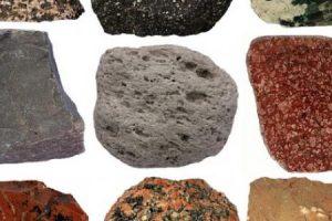 انواع الصخور واختلاف خصائصها