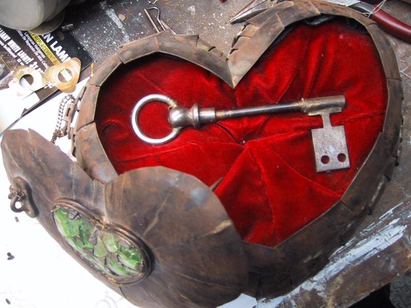قلب ومفتاحة