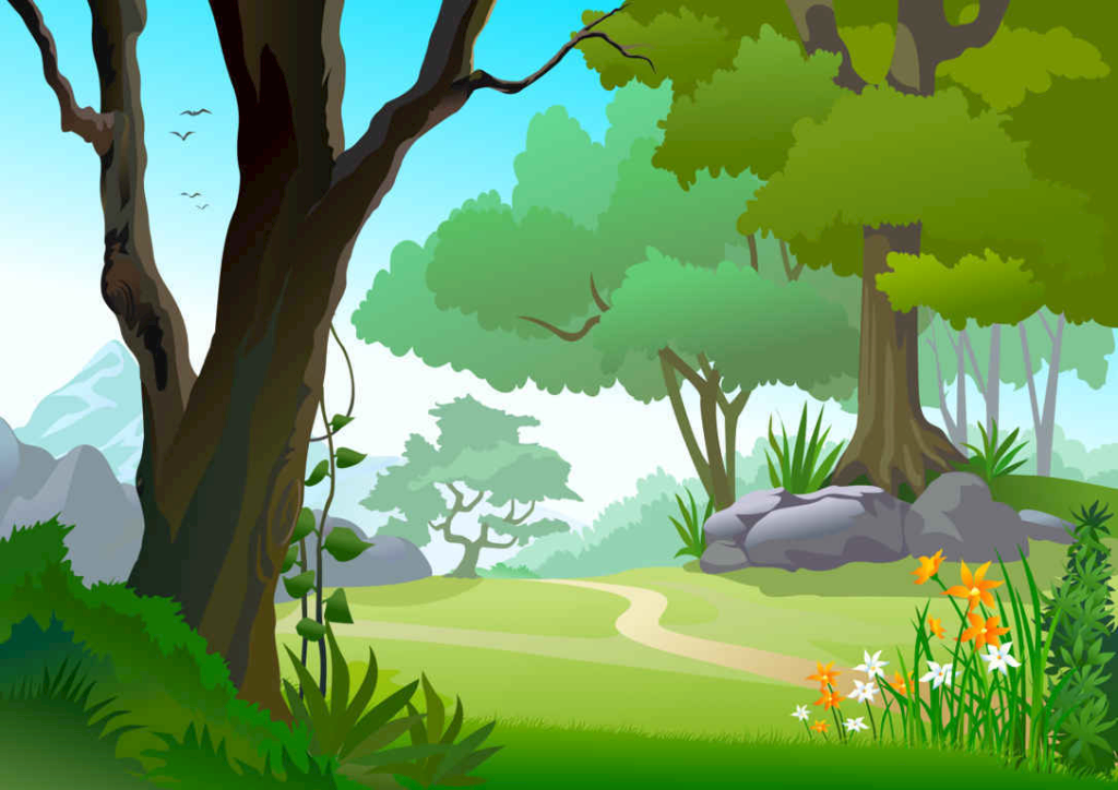Казакша, картинки лесная поляна для детей на прозрачном фоне