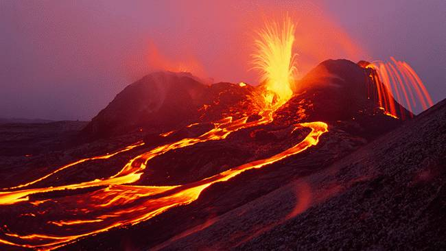 صورة بركان نشط