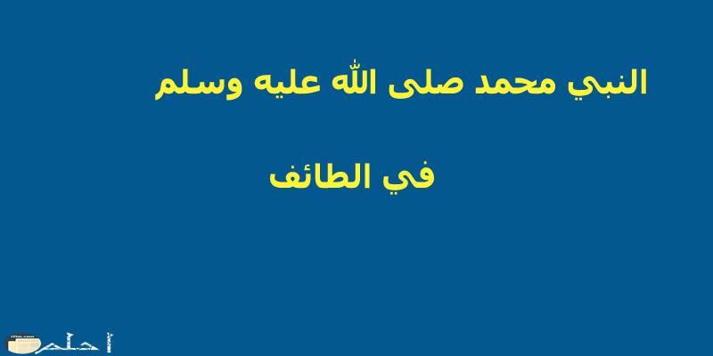قصة النبي في الطائف
