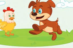 سرد قصة قصيرة للصغار قصة الكلب والدجاجة بقلم نور غراوي