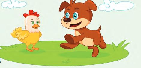 قصة الكلب والدجاجة