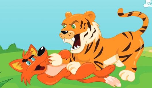 قصة النمر والثعلب