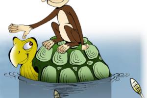 قصة طريفة قصة القرد والسلحفاة من حكايات كليلة ودمنة