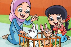 قصص جميلة جدا للبنات والاولاد بعنوان ديمة والأرنب اللطيف