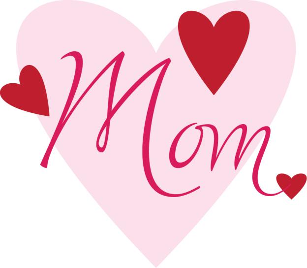 صورة قلب عليه كلمة امي