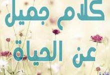 كلام جميل ومعبر ومؤثر عن الحياة