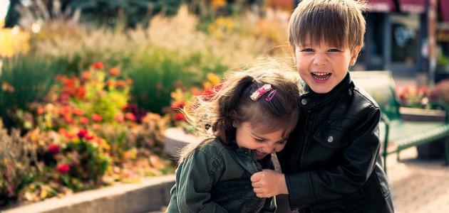 صورة اطفال يضحكون