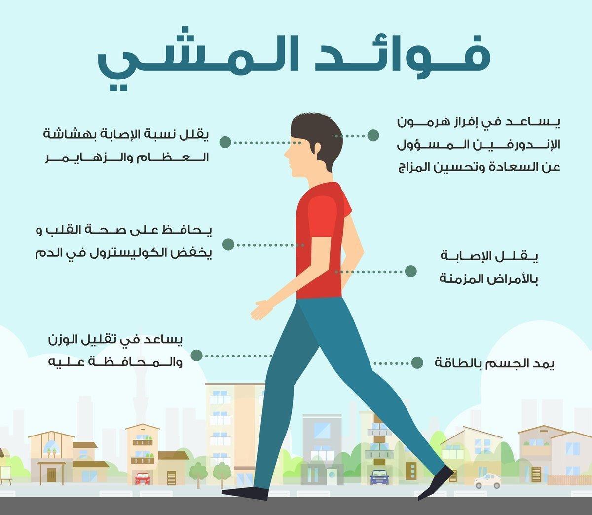 فوائد المشي