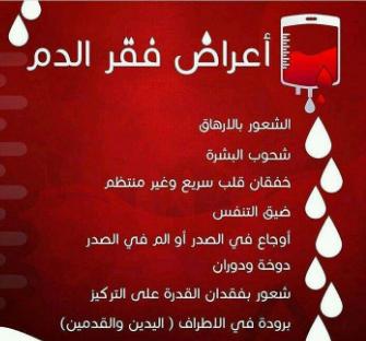 اعراض فقر الدم