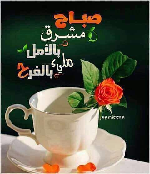 صباح مشرق بالأمل