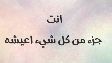 أنت جزء من كل أعيشه