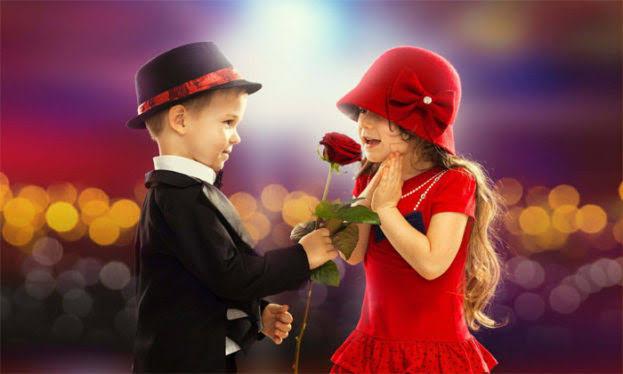 صورة أطفال رومانسية