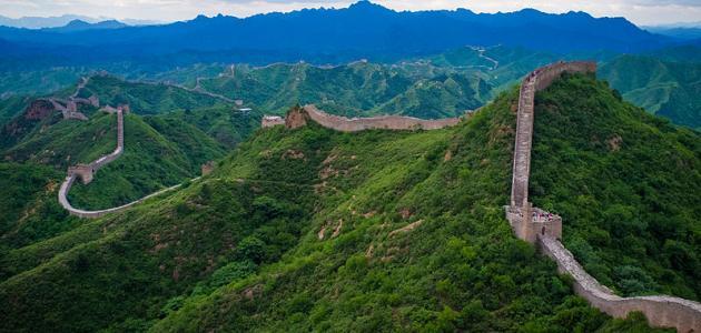 من المناظر الخلابة لسور الصين العظيم