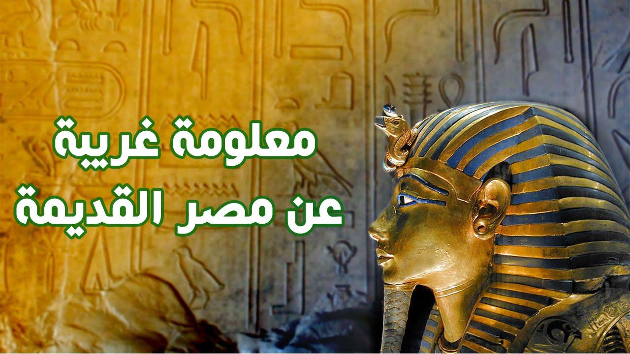 معلومات غريبة عن مصر القديمة