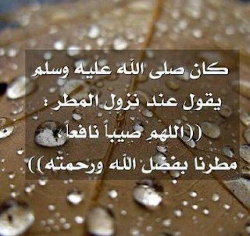 دعاء الرسول عند المطر
