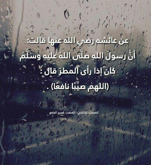 دعاء الرسول للمطر