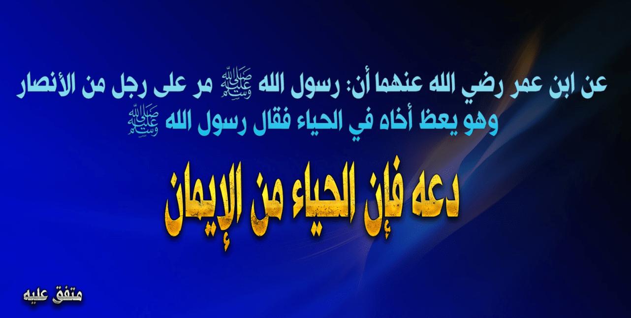 دعه فإن الحياء من الإيمان