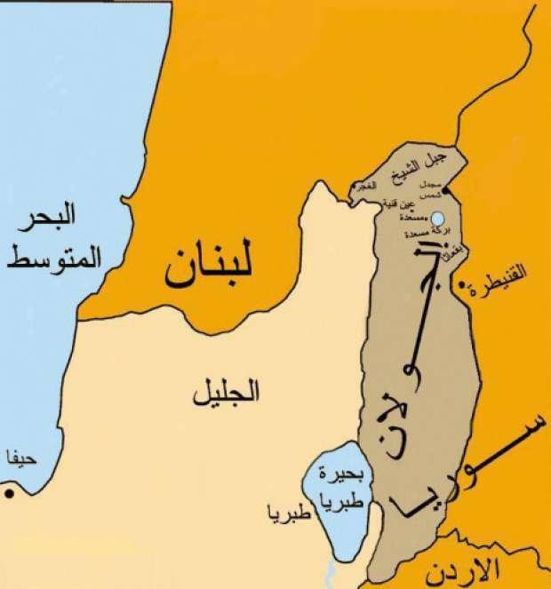 موقع بحيرة طبريا