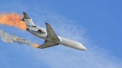 حلم سقوط الطائرة