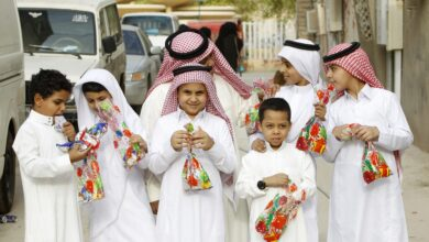 الاطفال في العيد