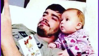 صورة طفل وأبيه