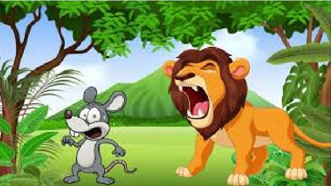 الفأر والأسد