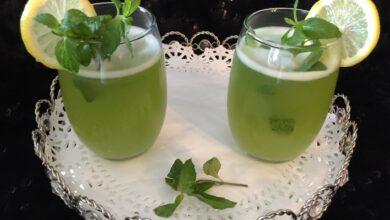 عصير ليمون بالنعناع منعش.