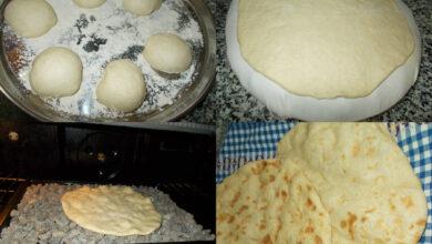 طريقة عجينة الخبز.