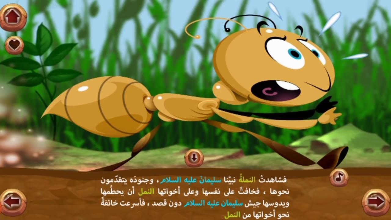 قصة النملة وسيدنا سليمان