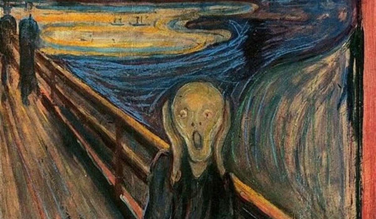 اجمل لوحات فنية، لوحة الصرخة للفنان إدفارت مونك.