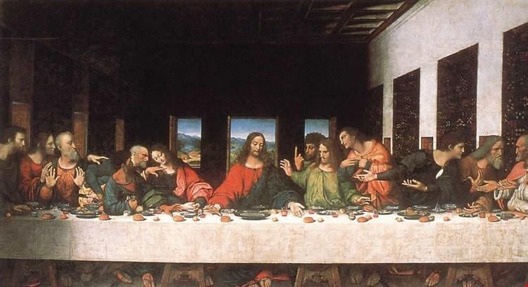اجمل لوحات فنية للفنان ليوناردو دي فينشي، العشاء الأخير.