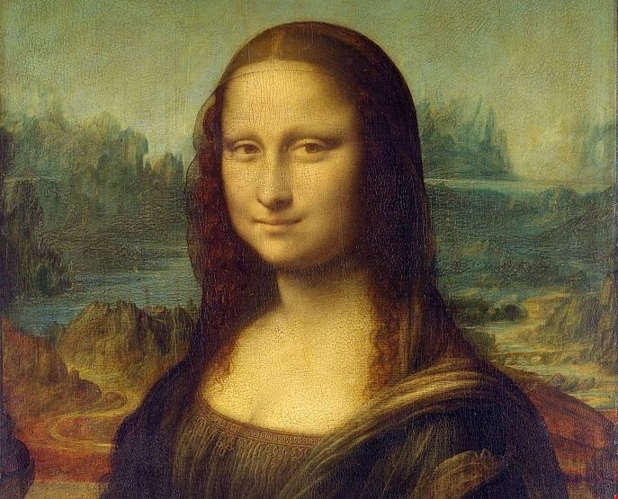 لوحة الموناليزا للفنان ليوناردو دي فينجي.