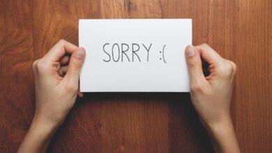 كيف تعتذر لشخص