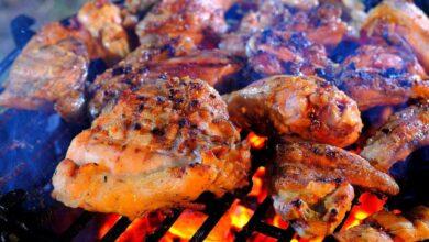 دجاج علي النار