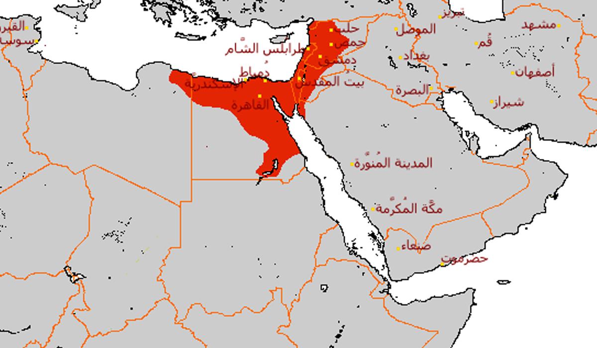 المناطق التي سيطر عليها الطولونيون