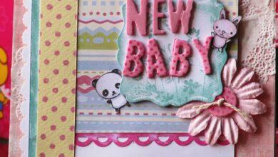 عبارات تهنئة بالمولود الجديد مزخرفة.