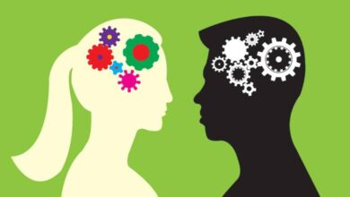 صورة توضح عقل الرجل والمرأة