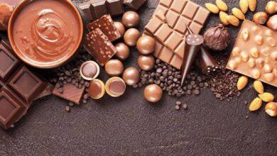 الشوكولاته البني