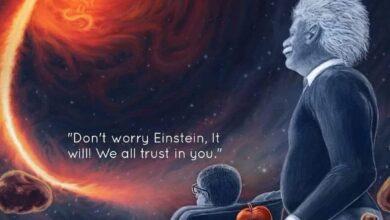 أينشتاين والثقوب السوداء
