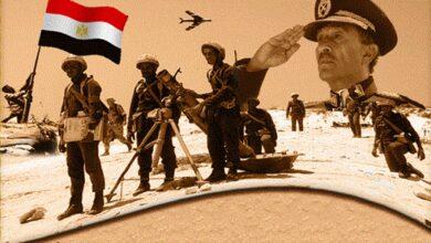 رفع العلم على أرض سيناء
