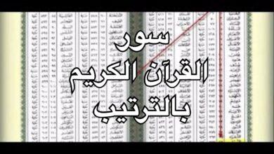 سور القرآن الكريم بالترتيب