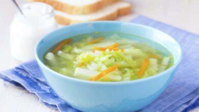 حساء انقاص الوزن.