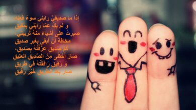 اشعار باللغة العربية الفصحي عن الأصدقاء.