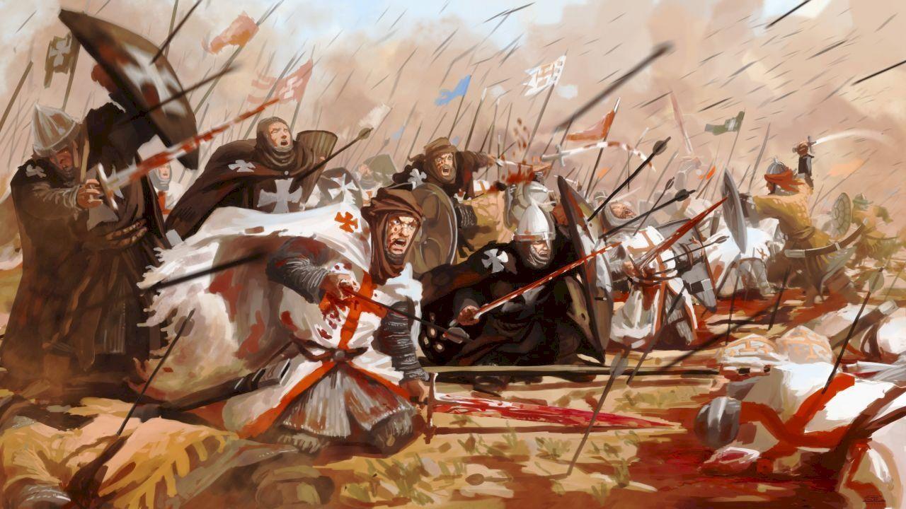 الصلبيين في المعركة