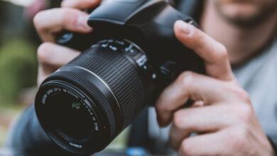 استخدام كاميرا التصوير