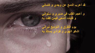 اشعار حزينة قصيرة و معبرة.